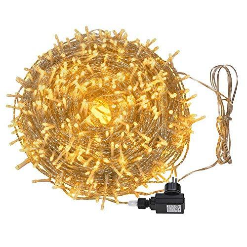 100m 600LED Lichterkette Außen Weihnachten Lichterkette Innen mit 8 Modi für Baum,Haus, Raum, Garten, Party, Festival
