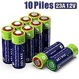 Alcaline 23A MN21 Batterie 12 V sans Mercure, 10 pièces en Pack Multi-économie (A23 / V23GA / LRV08 / 8LR932) conçue pour Les télécommandes, Les Cloches sans Fil et Les systèmes de sécurité