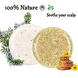 100% Vegan Shampoo Bar fürs Haar 2 Stücke Festes Shampoo HaarseifeNaturkosmetik für Behandeltes...