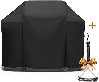 SHINESTAR 58 Inch Grill Cover, BBQ Grill Cover Heavy Duty Waterproof Fits for Weber Genesis Grill, Char Broil, Nexgrill, Kenmore, Dyna-Glo and More, Come with Grill Brush