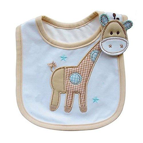 Hosaire Babero Impermeable del bebé Recién Nacido Bufandas de Algodón Diseño de Animales para Bebés