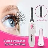 Heated Eyelash Curler Portable Eye Lash Curlers Electric Eyelash...