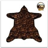Fur Accents Bear Skin Shag Rug - Plush Premium Faux Fur - Alaskan Bear - Life Size - 6 ' - Available in Nine Designer Colors (Brown)