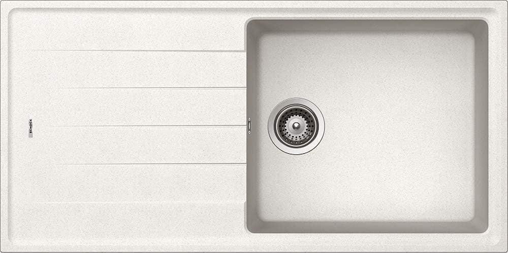respekta by Schock COLUMBIA100X50W Fregadero Granito, Cristalite, 100 x 50 cm, Blanco
