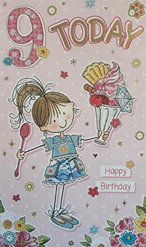 9Heute, Happy Birthday. Eis Mottoparty Grußkarte