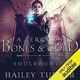 A Ferry of Bones & Gold audiobook cover art