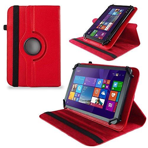 UC-Express Huawei MediaPad X2 Tasche Hülle Cover Hülle Tablet Schutz Schutzhülle Drehbar Bag, Farben:Rot
