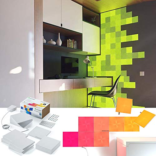 nanoleaf Canvas 25er Set inkl. Sound-Modul & Touchsteuerung, 16 Millionen Farben   Sprachsteuerung, Apple HomeKit & google assistant kompatibel, Plug & Play, iOS & Android App, LED-Square
