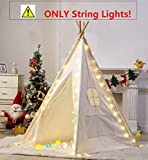 Led Stars Lichterkette für Tipi Zelt, Star Fairy String Lights Straps Dekorativ für Kinder Teepee...