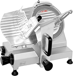 """Zica 10"""" Chrome-plated Carbon Steel Blade Electric Deli Meat Cheese Food Ham Slicer Commercial and for Home use ZBS-10A"""