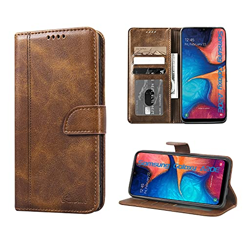 Luburs Samsung Galaxy A20E Hülle, Flip Tasche Handyhülle [Einzigartig Magnetverschluss] [Premium PU Leder] [Standfunktion] [Kartenfach] Schutzhülle Stoßfest case für Samsung Galaxy A20E