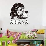 R&B Pop Music Ariana Super Star Singer Fashion Grande Vinilo Adhesivo de pared Calcomanía para coche Boy Fans Dormitorio Sala de estar Club Studio Decoración para el hogar Mural