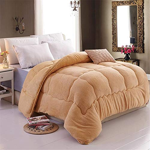 YAOYAO Duvet Cotton Winter,Winter Warm Lamb Velvet Core,Plus Velvet Core Quilt Winter Quilt,Warm Bed Quilt Bedding for Home Bedroom (Camel,100 * 150cm 1 kg)