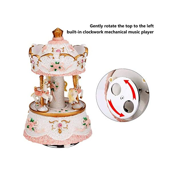LOVE FOR YOU Carousel Horse Valentine's Music Box Cute Toy Present Birthday Gift for Baby Girls Children Daughter… 6