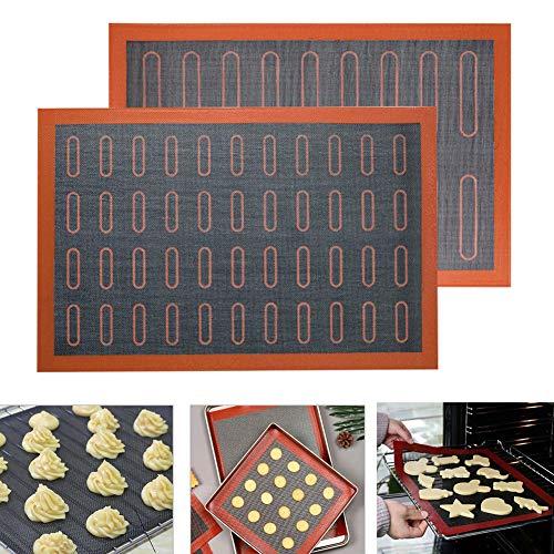 KANUBI - Tappetino da forno in silicone, a doppia faccia, antiaderente ad alta temperatura per forno