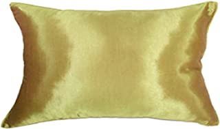 Artiwa 12x20 Silk Decorative Throw Accent Pillow Case Cover for Sofa Couch Bed Solid Color Gift Idea (12x20 in, Vegas Gold)