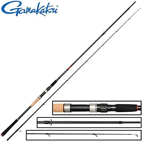 Gamakatsu Akilas 80XXXH 2,40m 50-100g - Spinnrute zum Spinnangeln auf Hechte, Angelrute zum Hechtangeln, Hechtrute für Kunstköder
