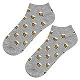soxo Herren Bunte Bier Sneaker Socken | Größe 40 – 45 | Witzige Motivsocken aus Baumwolle | Ideal für Frühling & Sommer