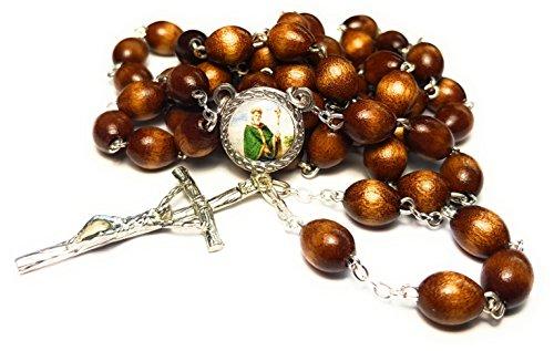 3rd class relic rosary of Saint Patrick Christian missionary & bishop 'Apostle of Ireland' New York San Patricio patrón de Irlanda Nueva York …