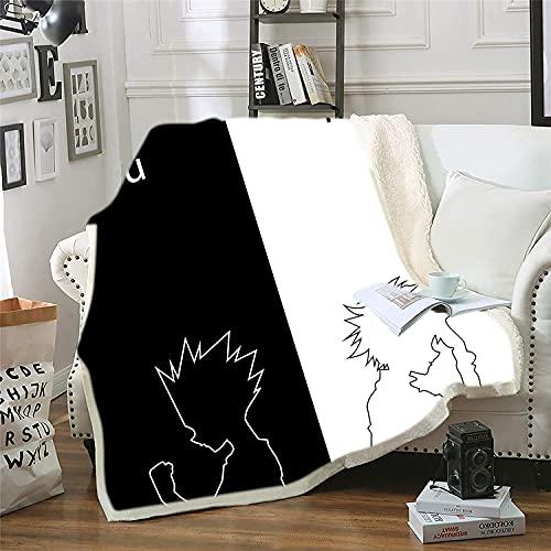 Proxiceen Manta de franela Hunter×Hunter, manta de microfibra suave para el sofá (estilo 1,100 x 140 cm)
