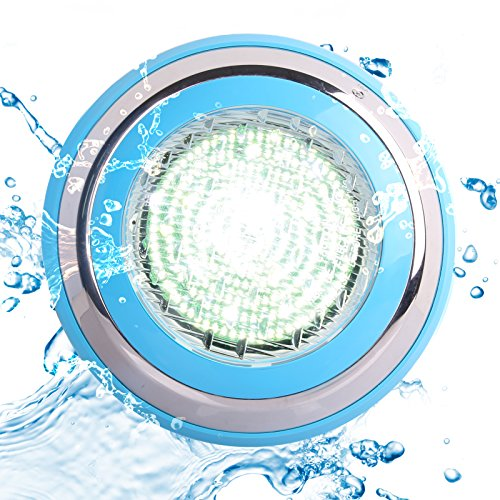Toplanet Luces Led Piscina 48w Led Pool Light Underwater Blanco Luz Impermeable IP68 AC 12V para Estanque Acuario