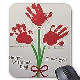 Baby Handabdruck Valentinstag Bastelmuster Mauspad