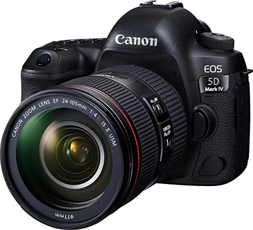 Canon EOS 5D Mark IV Full Frame Digital SLR Camera with EF 24-105mm f/4L is II USM Lens Kit (Renewed)