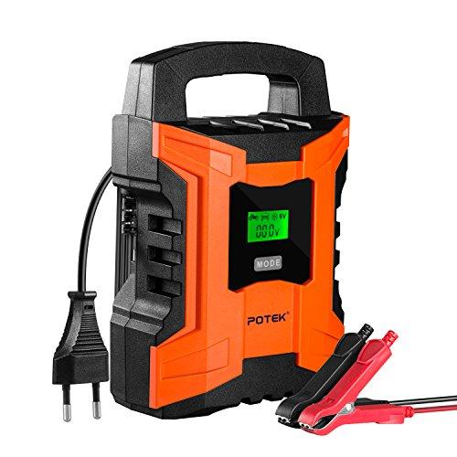 POTEK Chargeur de Batterie/Mainteneur 2A/4A/10A...
