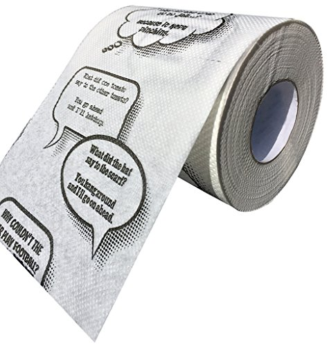 Ideas In Life Joke Toilet Paper – Novelty Funny Gag Gift Bathroom Paper Roll Jokes On Every Square...