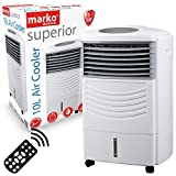 Marko Electrical Fan Pedestal Fans Oscillating Stand Desk Electric Home Tower Office Standing UK (Air Cooler with Remote Control)