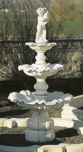 pompidu-living Brunnen, Gartenbrunnen, Zierbrunnen, Fountain, dreistöckig Farbe Terracotta