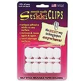 StikkiWorks STK01420BN Stikki Clips Self-Stick Reusable Paper Holders, White, 30 Per Pack, 6 Packs
