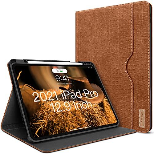 Funda para iPad Pro 12.9 2020/2018 con soporte para lápices, funda inteligente...