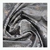 Stoff am Stück Stoff Polyester Samt grau Vintage metallic