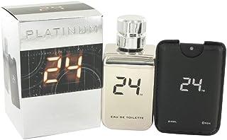ScentStory 24 Platinum The Fragrance Eau De Toilette Spray + 0.8 oz Mini Pocket Spray 3.4 oz Cologne for Men