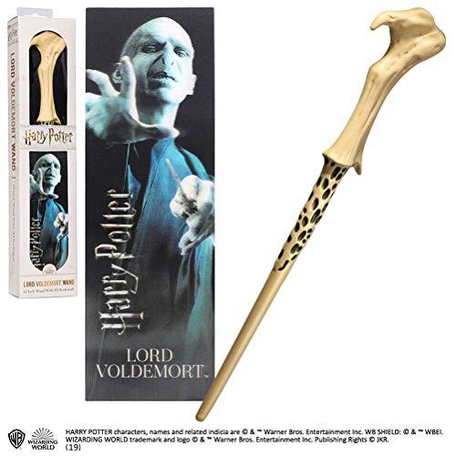 The Noble Collection NOB6317 Harry Potter Zauberstab von Lord Voldemort + Lesezeichen aus Kunststoff, ca. 30,5 cm, Mehrfarbig