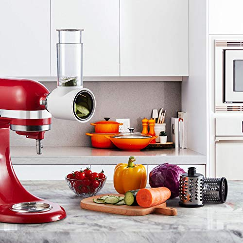 Gvode Slicer/Shredder Attachment for KitchenAid Stand Mixers as Vegetable Chopper Accessory-Salad Maker