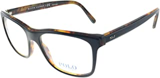 PH 2173 5260 Black on Havana Plastic Rectangle Eyeglasses...