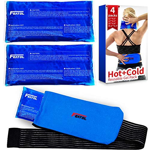 Large Gel Ice Packs for Injuries Reusable Hot amp Cold Compress Therapy 12quotx 65quot2Pcs 10quotx45quot 1Pcs Effective Relief Joint Pain Muscle Soreness and Body Inflammation