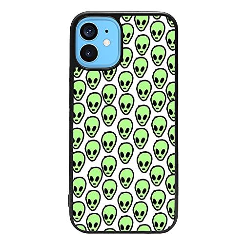 Generico Carcasa Funda de móvil Alien Indie Kids marcianos alienigenas diseño Hippie Retro Aesthetic Cool para Samsung Galaxy J7 (2018) Goma Flexible TPU Borde Negro