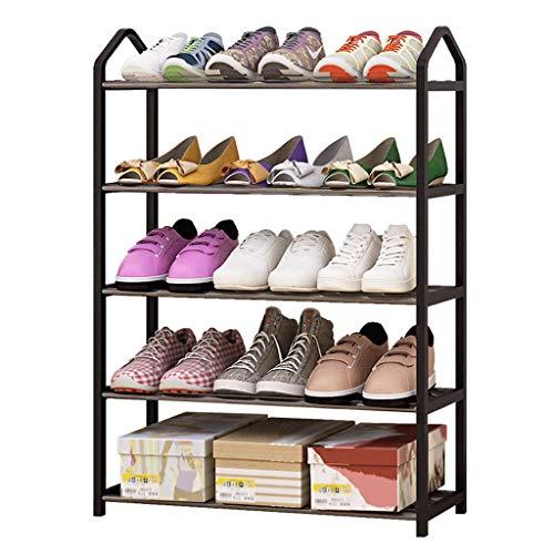 DAGCOT Zapatero Clásico Resina de 4 Capas Material práctico Resina de Zapatos Torre de Zapatos, Puede acomodar 12 Pares de Zapatos, Negro (Size : 80cm High)