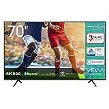 Hisense 70AE7000F 178 cm (70 Zoll) Fernseher (4K Ultra HD, HDR, Triple Tuner DVB-C/S/S2/T/T2,...