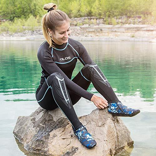 Tilos 3mm Waterproof Neoprene Fin Socks for Scuba Diving, Snorkeling, Swimming, Watersports, Hiking & Many More (Aqua, XS)