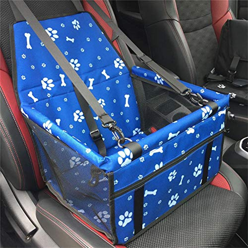 Myuilor Pet Dog Car Booster Seat Carrier,Portable Foldable Carrier with Seat Belt for Dog Cat up to 30lbs …