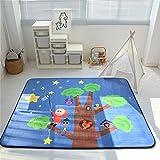 ZXL 200 * 150 cm Babyspielmatten Tapete Infantil 1,5 cm Dicke Baby Teppich Spielmatte Kind Kleinkind Crawl Spielmatte Multifunktionale Langsam Rebound Matten Säuglingsdecke,Bigtree