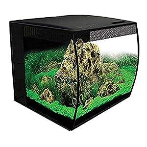 Fluval Flex Aquarium Kit 57 Litre Bow Fronted Fish Tank 41 x 39 x 39 cm with Filtration, Remote Control LED ...