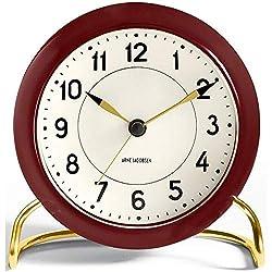 Rosendahl Watch Aj Table Clock Station Red Arne Jacobsen, Abs Plastic, Glass