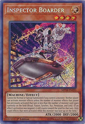 Yu-Gi-Oh! - Inspector Boarder (MP18-EN193) - 2018 Mega-Tin Mega Pack - 1st Edition - Secret Rare