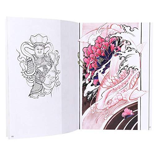 Ensemble de modèles de tatouage, pochoirs de tatouages, ensemble de modèles de tatouage réutilisable, 66 pages tatouage pratique modèle livre couleur motif exquis accessoire de livre de tatouage