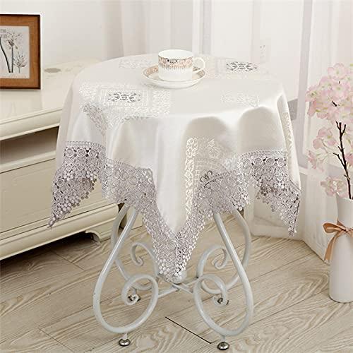 sans_marque Paño de mesa, anti-derrame y anti-pliegue cubierta de tabla suave, utilizado para la decoración de mesa de cocina 100* 100cm